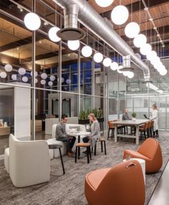 Open concept collaboration space