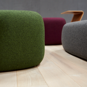 Accent pebble seating